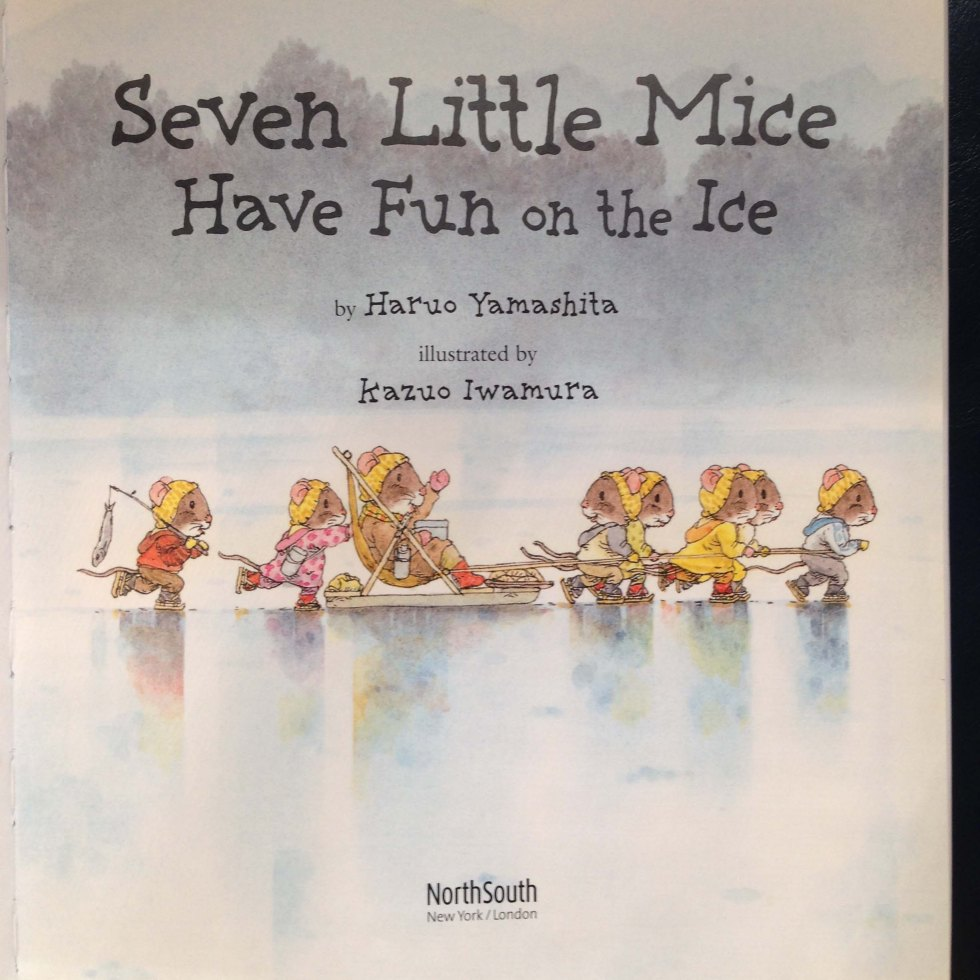 Seven Mice Have Fun on the Ice