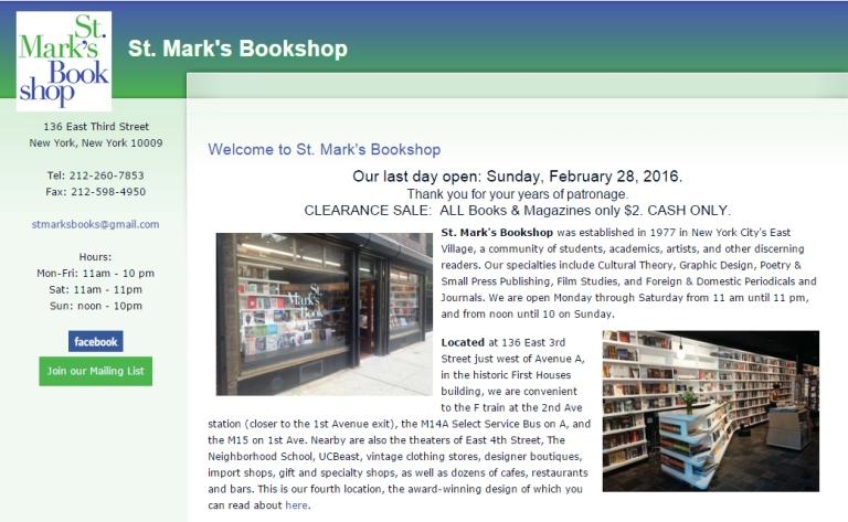 St Marks Website